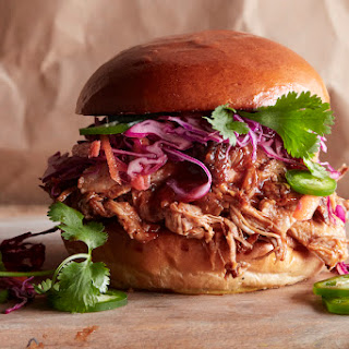 Honey BBQ Pulled Pork Burgers.