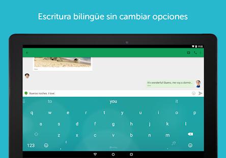 Teclado SwiftKey + Emoji: miniatura de captura de pantalla