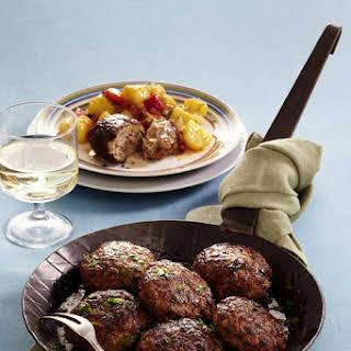 Hungarian Meatballs with Potatoes and Sauerkraut.