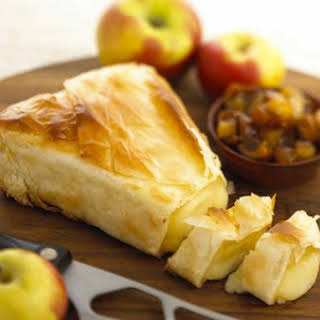Baby Brie Wedge In Phyllo.