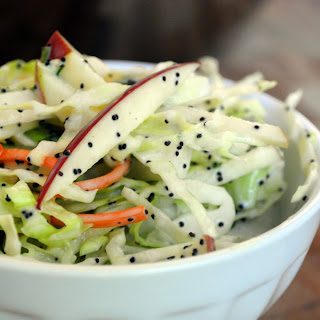 Apple Cabbage Slaw with Creamy Poppy Seed Dressing.