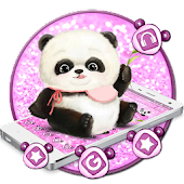 Cute Pink Panda Mobile Theme