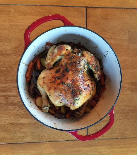 Roast Chicken With Root Vegetables Recipe | Yummly
