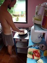 Photo: Ko Phangan - Marek cooking some thai (?) meal