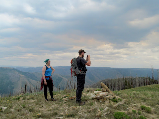 Dollie and Chris at the top of Seeley Mountain