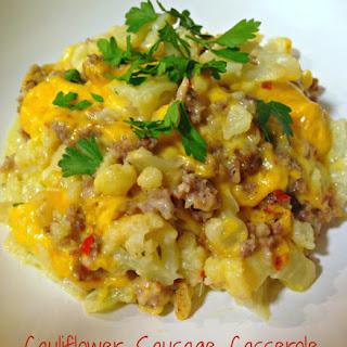 Cauliflower Sausage Casserole.