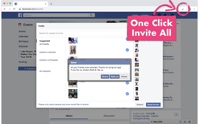 Invite All Friends for Facebook™