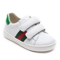 Gucci Leather Web Trainer Toddler TODDLER VELCRO
