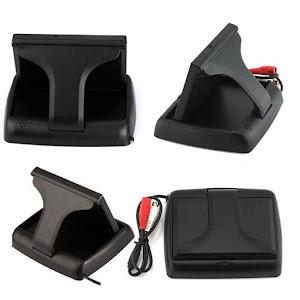 Monitor pliabil TFT 4.3 inch + Mini camera auto de marsarier Night Vision