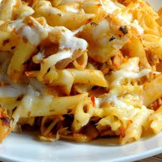 Cheesy Turkey Gluten-free Baked Pasta.