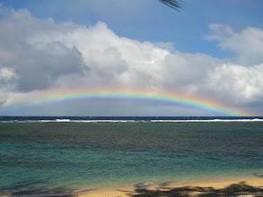 Photo: Arc en ciel sur le lagon de La Réunion