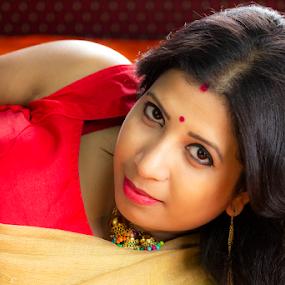 Seduction by Rajib Chatterjee - People Portraits of Women
