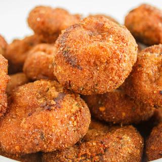 Crispy Deep-Fried Breaded Mushrooms.