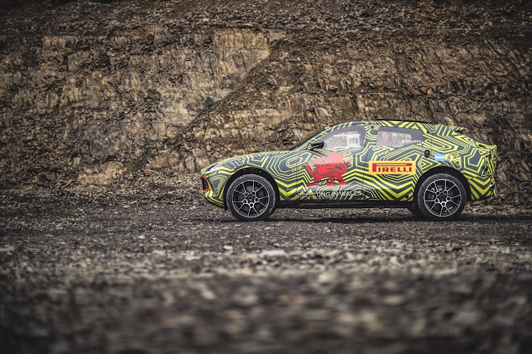 aston martin is busy testing its edgy new dbx suv
