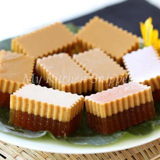 Agar Agar Gula Melaka /Palm Sugar Jelly.