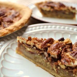 Not Too Sweet Vanilla Pecan Pie