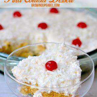 Easy Pina Colada No Bake Dessert
