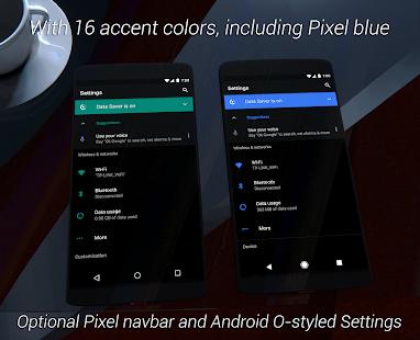 aospUI Black Substratum Theme+Samsung/Stock/Pixel Screenshot