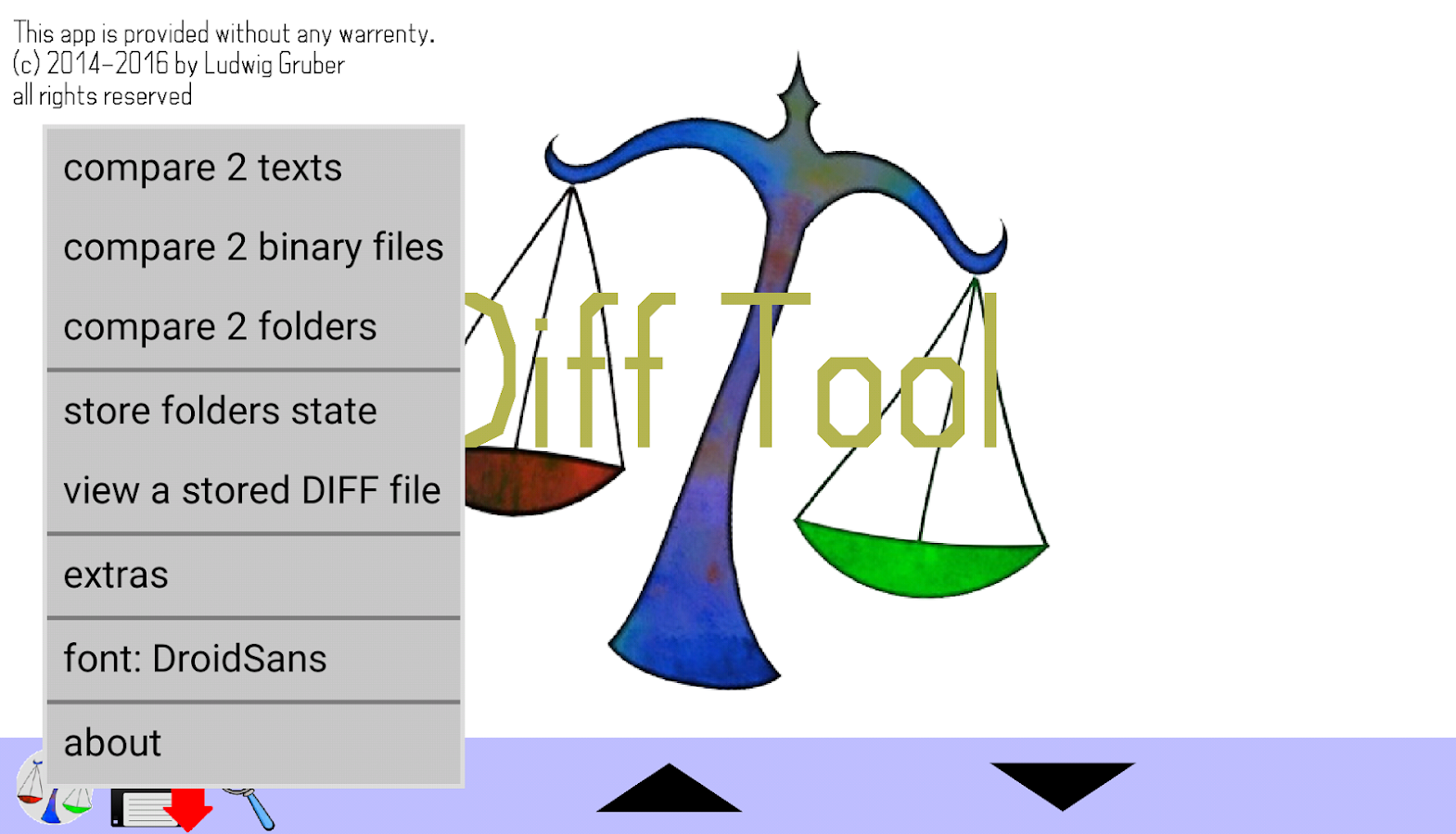 DiffTool the File Compare Tool- screenshot