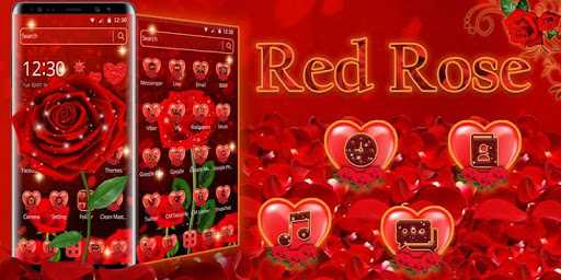 Romantic Red Rose Love Theme app (apk) free download for Android/PC