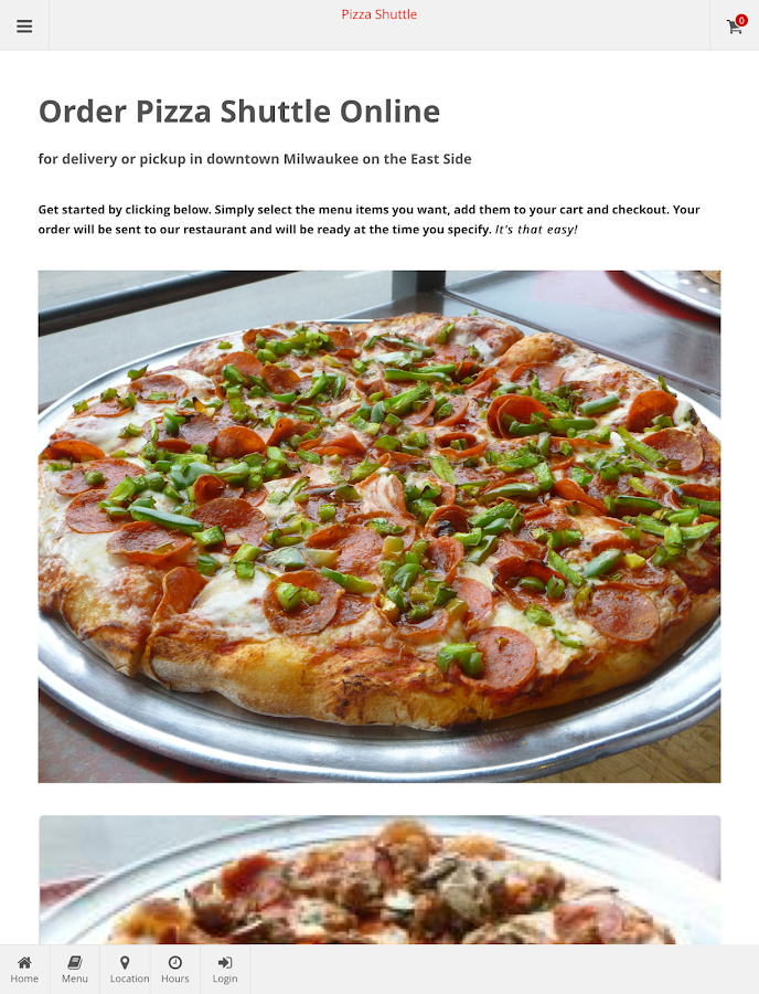 Pizza Shuttle Online Ordering- screenshot
