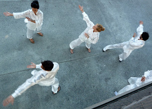 Photo: Martial arts exercise on the street below