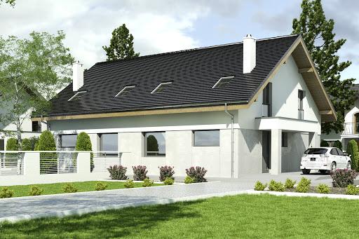 projekt Agat bez garażu bliźniak B-BL