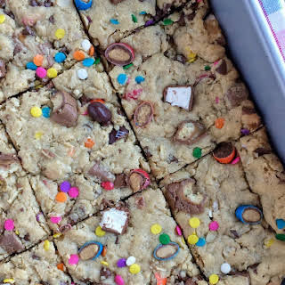 Easter Surprise Confetti Cookie Bars.