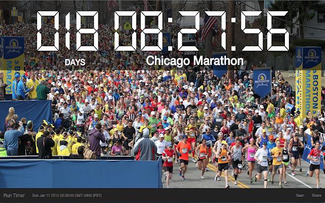 Marathon Countdown Timer