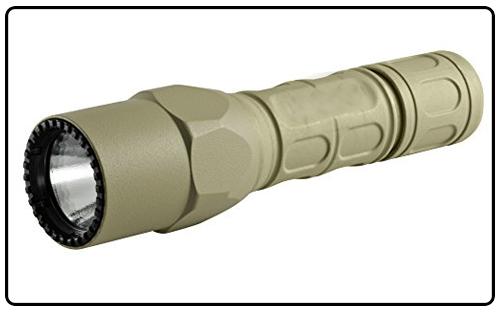 SureFire G2X Pro Dual-Output LED Flashlight with click Small, Desert Tan