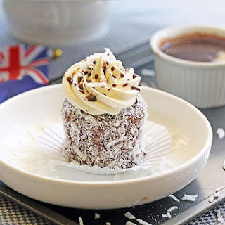 Lamington Cupcakes with Whipped Vanilla Buttercream Recipe