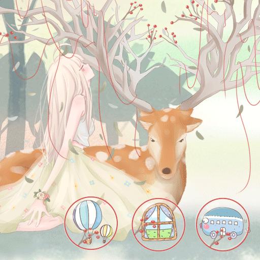 핑크 사랑스러운 소녀 漫畫 App LOGO-硬是要APP