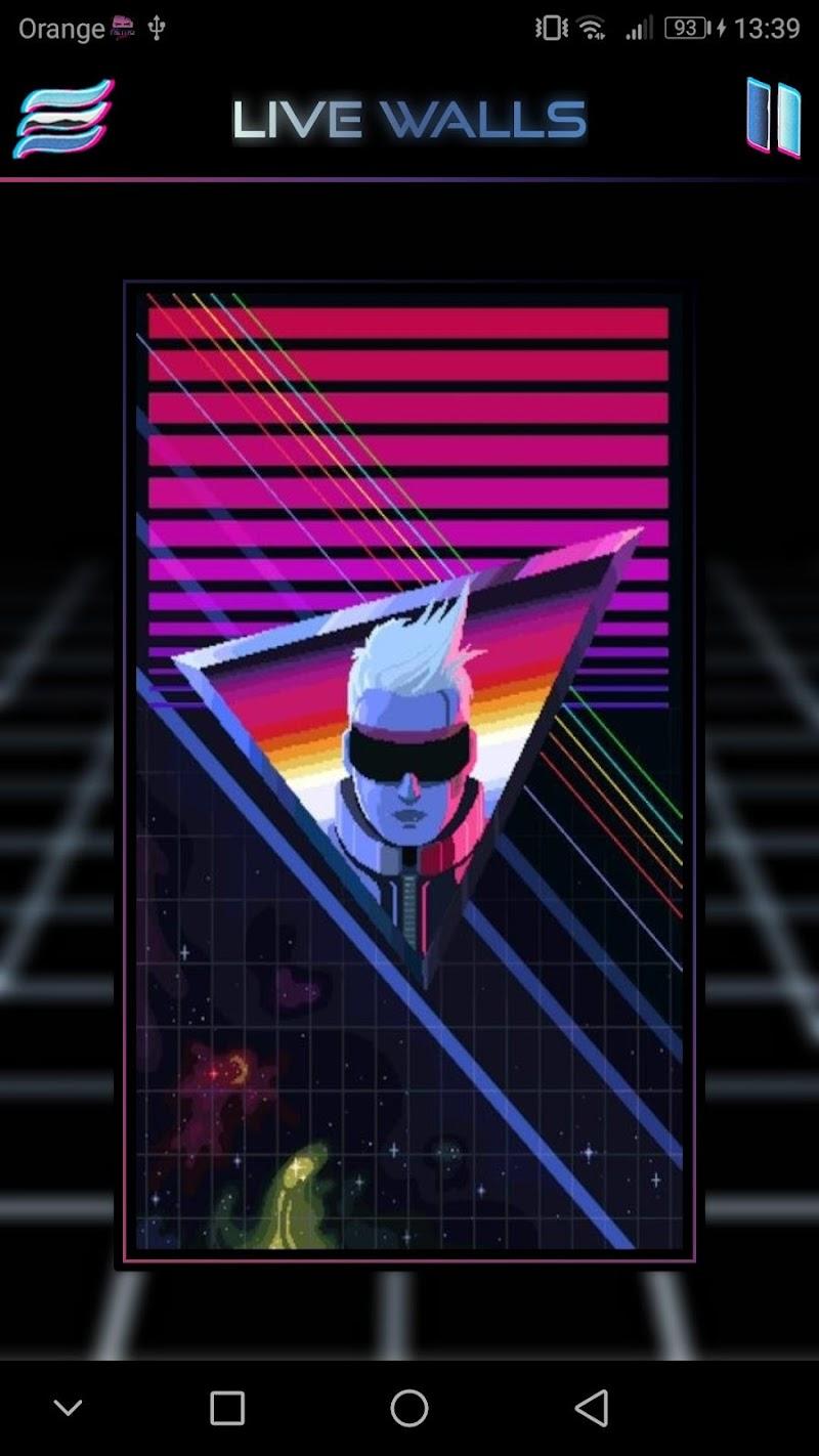 Retrowave Wallpapers PRO (Live Walls,GIFs & Radio) APK