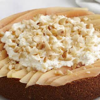 Macadamia Nut and Papaya Cheesecake.
