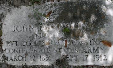 Photo: John Darling Dowling son of Darling Welsey Dowling and Sophia Davis / Husband of Sarah Johns / At Feet