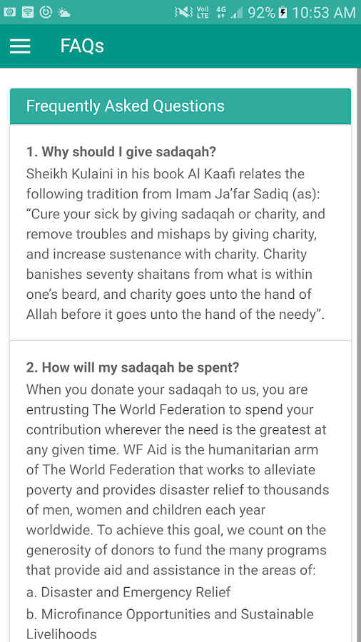 iSadaqah- screenshot