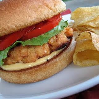 Salmon Burgers with Sesame Mayonnaise.