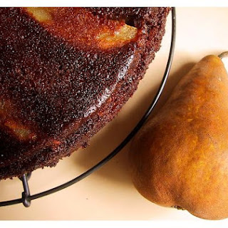 Pear Upside-Down Ginger Cake.