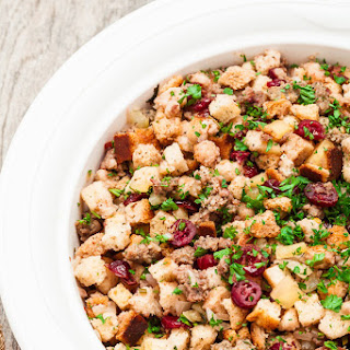 Quick Easy Cranberry-Sausage Stuffing
