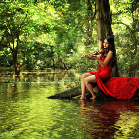 Me...Music...and Nature by R Siswanty - People Portraits of Women ( me...music...and nature )