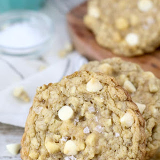 Salted Caramel Cashew Oatmeal Cookies.