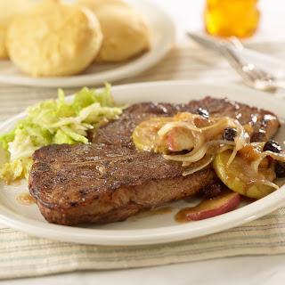Spicy Glazed Pork Steaks.