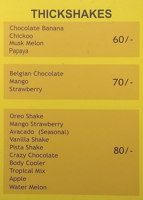 Think Juice menu 3