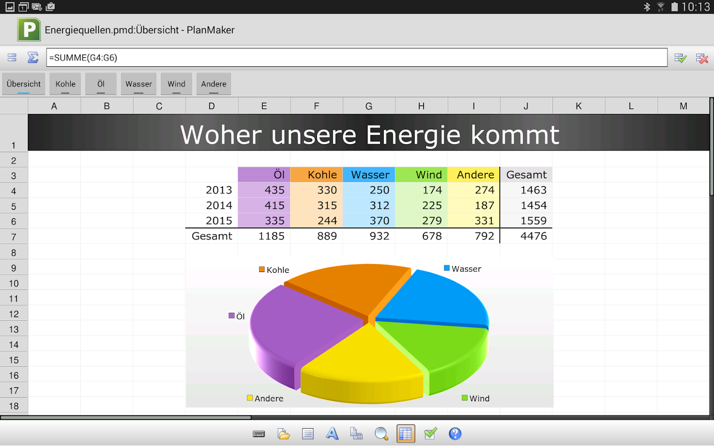 Free Office Planmaker Mobile Android Apps Auf Google Play