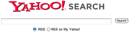 Yahoo! RSS Search