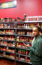Photo: Jihad loves the hot sauce!