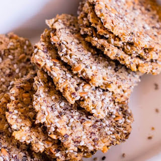 Gluten Free Quinoa & Rice Crackers (with Linseed)