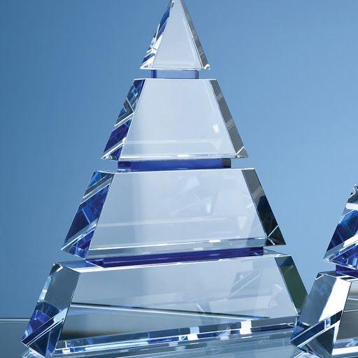 15cm Optical Crystal Pyramid Award