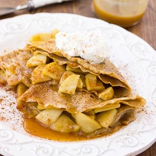 Caramel Apple Buckwheat Crepes {Gluten-Free, Dairy-Free}