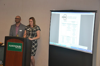 Photo: Abbey Saunders talking about ASHRAE Research